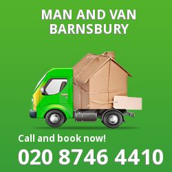 moving vans Barnsbury