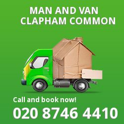 moving vans Clapham Common