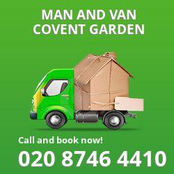 moving vans Covent Garden
