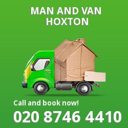 moving vans Hoxton