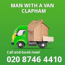 Clapham man van SW11