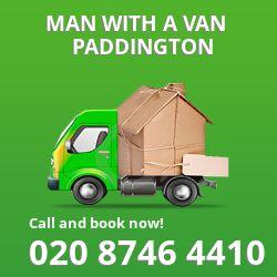 Paddington man van W2