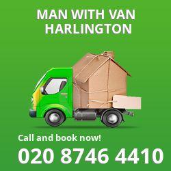 Harlington men and van UB3