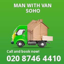Soho men and van W1