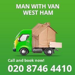 West Ham men and van E13